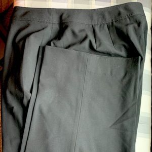 Talbots Black Stretch Dress Pants 20 LONG